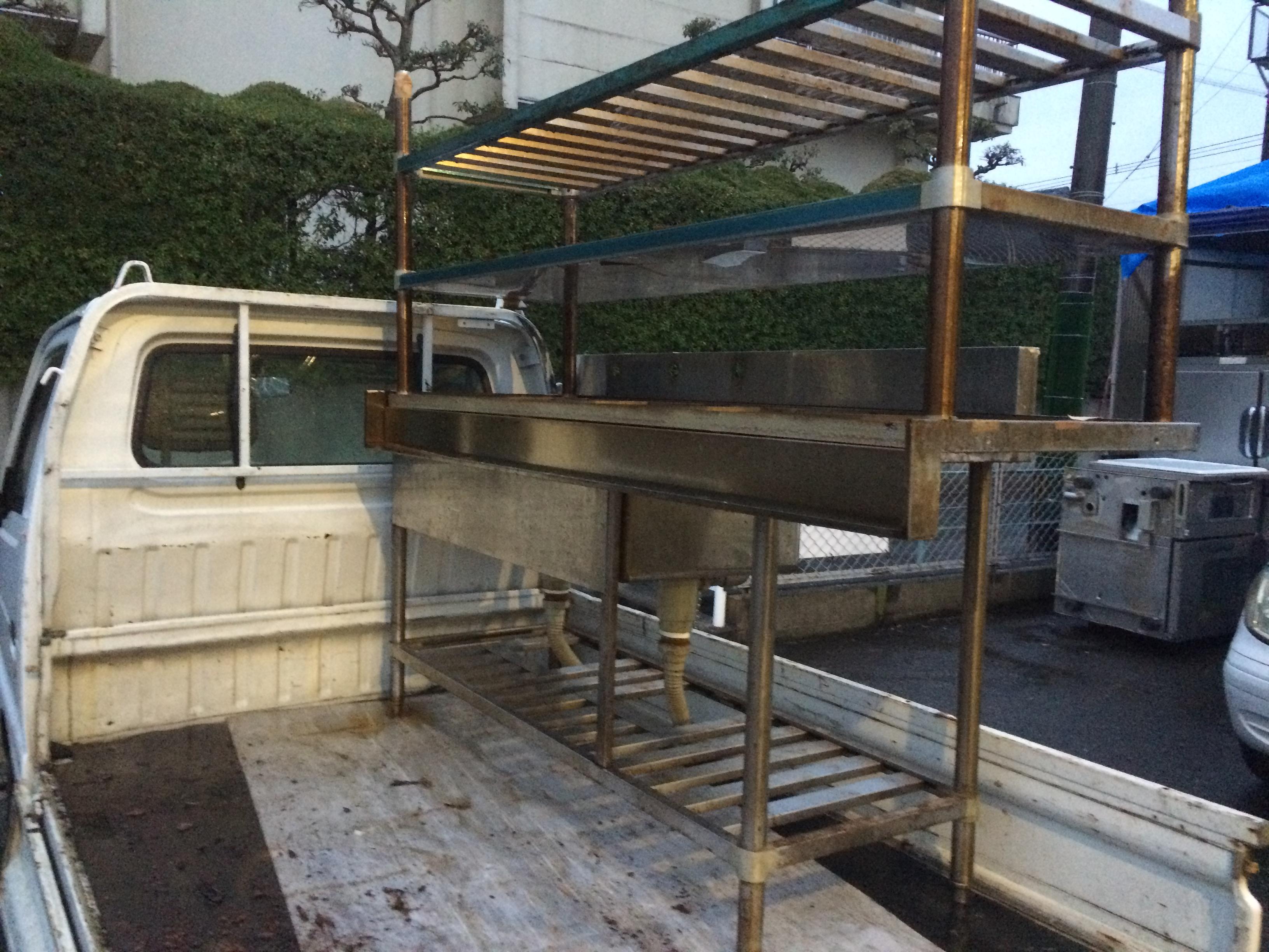 2槽シンク・調理台 買取ました! 福岡・熊本で厨房機器の事は厨房ジャックへ