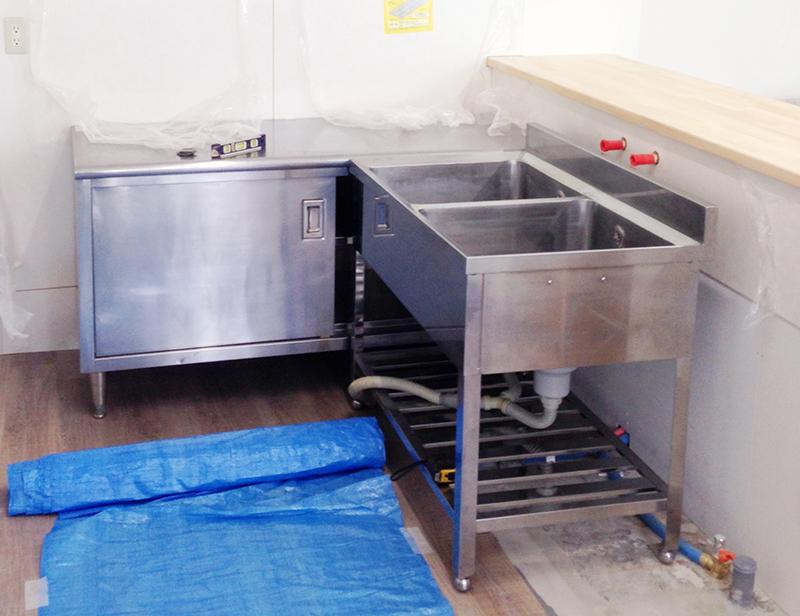 厨房機器の設置@那珂川